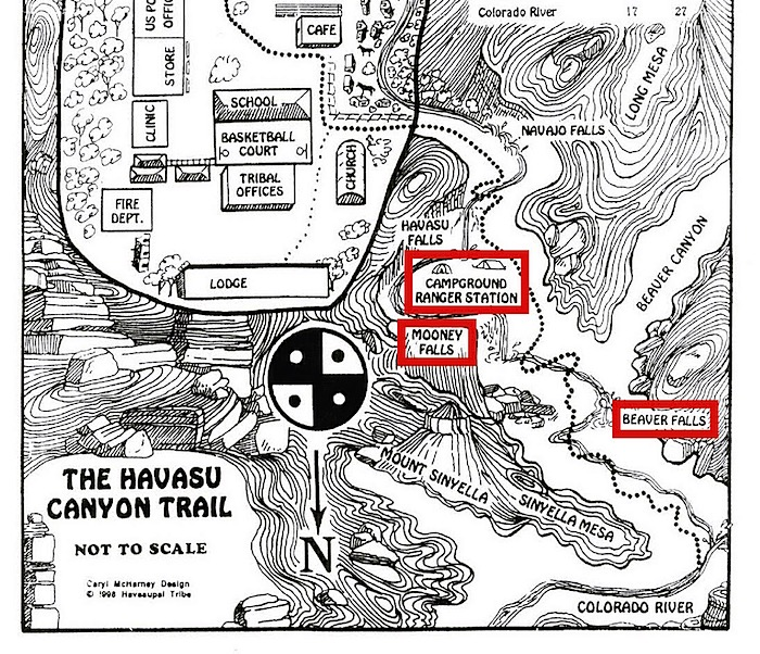 Havasu 6: Hike to Mooney Falls | As Her World Turns on map of meteor crater, map of shoshone falls, map of grand canyon region, map of utah, map of havasu falls, map of monument valley, map of mooney falls, map of canyon de chelly,