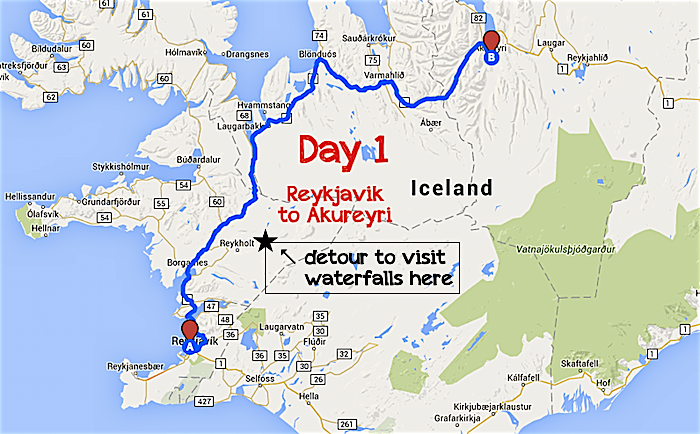 Iceland Road Trip Day 1: Drive to Akureyri | As Her World Turns